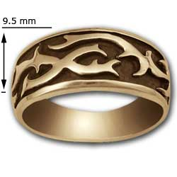Tattoo Ring in 14K Gold