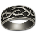 Tattoo Ring in Sterling Silver