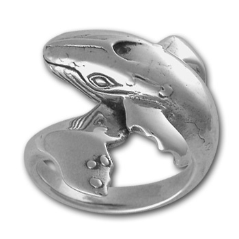 Grey Whale Ring in Sterling Silver