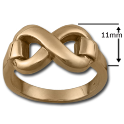 Classic Infinity Ring (Lg) in 14k Gold