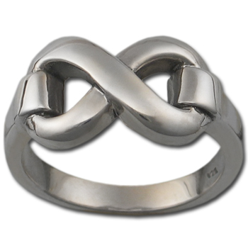 Classic Infinity Ring (Lg) in Sterling Silver