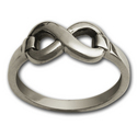 Classic Infinity Ring in Sterling Silver
