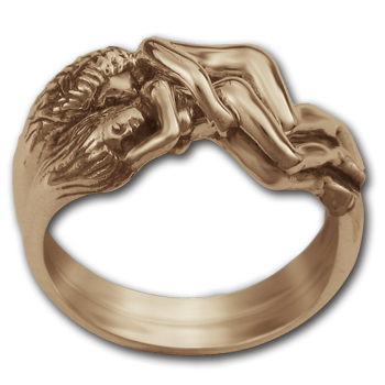 Lesbian Lovers Ring in 14k Gold