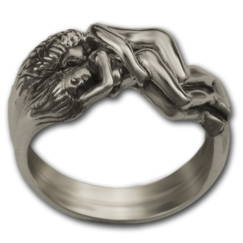 Lesbian Lovers Ring in Sterling Silver