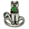 Mr. Kitty Ring in Silver and Gold