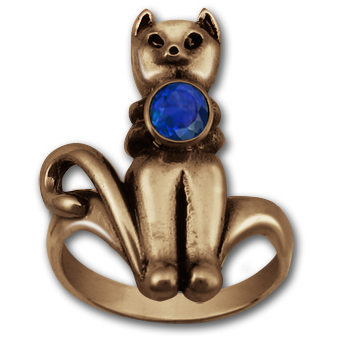 Mr. Kitty Ring in 14k Gold