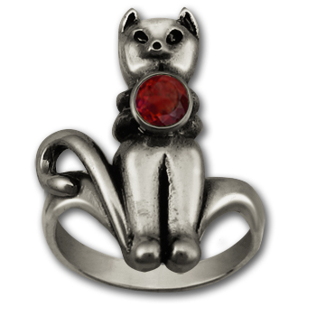 Mr. Kitty Ring in Sterling Silver