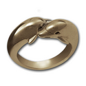 Double Dolphin Ring in 14k Gold