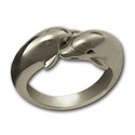 Double Dolphin Ring in Sterling Silver