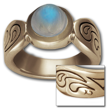Rippling Sea Ring in 14k Gold