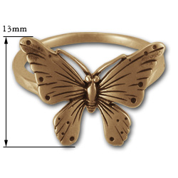 Butterfly Ring in 14k Gold