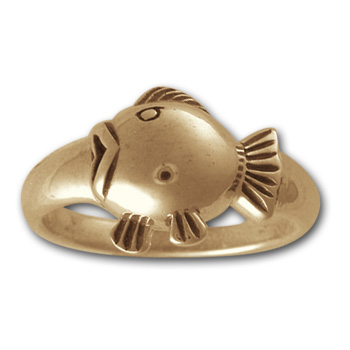 Blowfish Ring in 14k Gold