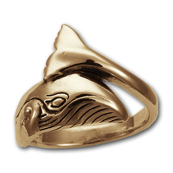 Grey Whale Ring in 14k Gold