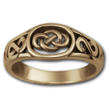Celtic Knot Ring (Sm) in 14k Gold