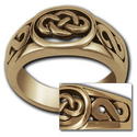 Celtic Knot Ring (Lg) in 14k Gold