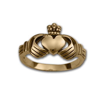 Small Claddagh Ring in 14K Gold