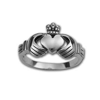 Claddagh Ring in Sterling Silver (small)