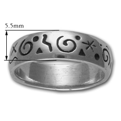 Stylized Petrolypgh Ring in Sterling Silver