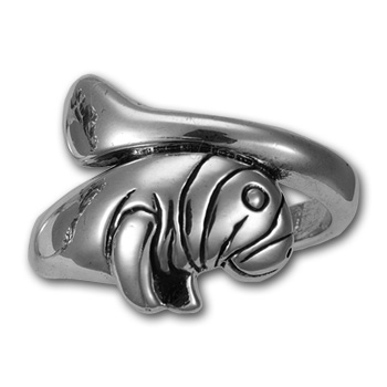Manatee Ring in Sterling Silver
