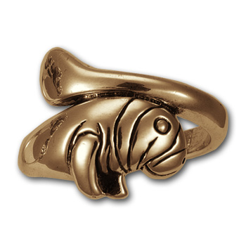 Manatee Ring in 14k gold