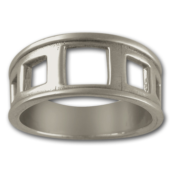 Hip to be Square Ring in Sterling Silver