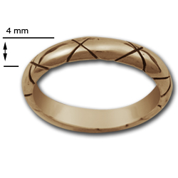 Criss Cross Ring in 14k Gold