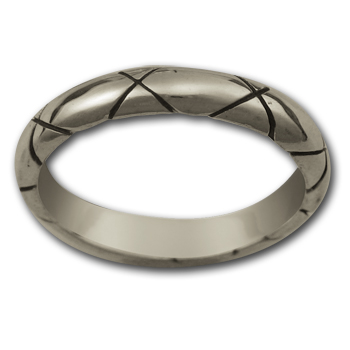 Criss Cross Ring in Sterling Silver