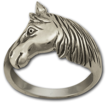 Horse in Profile Ring in Sterling Silver