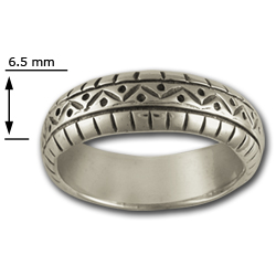 Band Ring in Sterling Silver
