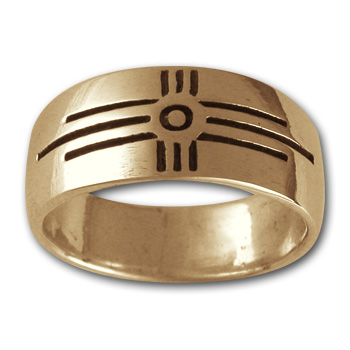 Zia Sun Symbol Ring in 14k Gold