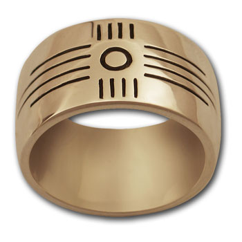 Zia Sun Symbol Ring (Lg) in 14k Gold