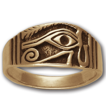 Eye of Horus Ring (Sm) in 14k Gold