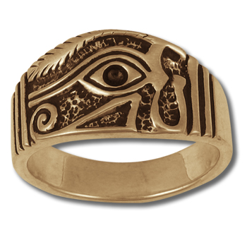 Eye of Horus Ring (Lg) in 14k Gold