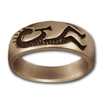 Kokopelli Ring in 14k Gold