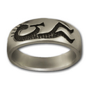 Kokopelli Ring in Sterling Silver