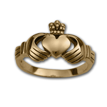 Claddagh Ring in 14k Gold (medium)