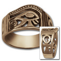 Eye of Horus Ring in 14K Gold