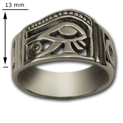 Eye of Horus Ring in Sterling Silver
