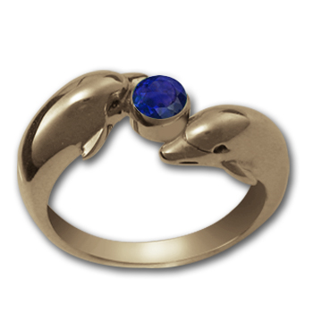 Dolphin Ring in 14k Gold