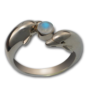 Dolphin Ring in Sterling Silver