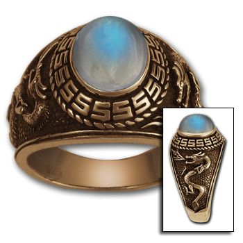 Dragon Class Ring in 14k Gold