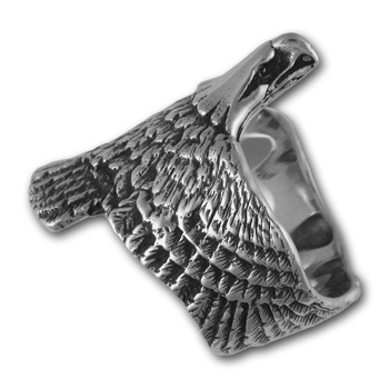Bald Eagle Ring in Sterling Silver