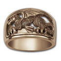 Welsh Dragon Ring (Lg) in 14k Gold