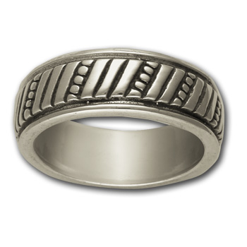 Striking Band Ring in Sterling Silver
