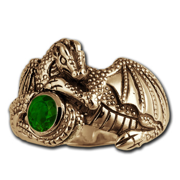 Elegant Dragon Ring in 14k Gold