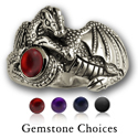 Elegant Dragon Ring in Sterling Silver