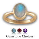 14K Gold Gemstone Ring