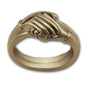 Two Part Hand Ring in Yellow 14k Gold w/ Diamond