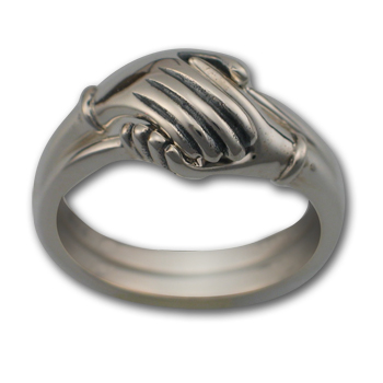 Two Part Hand Ring in Sterling Silver