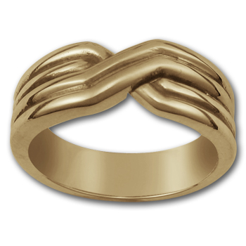 Crossover Ring in 14k Gold